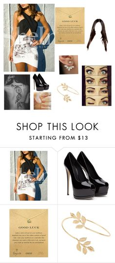 """""""Untitled #87"""" by sjamie123456 ❤ liked on Polyvore featuring Dogeared and Miss Selfridge"""