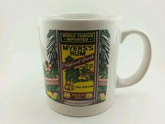 Myers Rum Mug World Famous Imported Original Dark Tropical Scene. 10oz