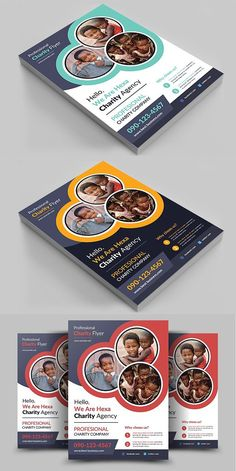 Charity Flyer Template is a professional, clean, & creative Charity Flyer Template designed to make a good impression. Leaflet Template, Leaflet Design, Template Flyer, Flyer Design Inspiration, Graphic Design Brochure, Brochure Layout, Collateral Design, Creative Flyers, Flyer Design