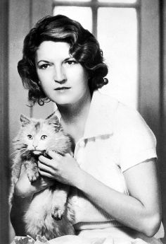 Zelda Fitzgerald, C.1930 sister of Scott Fitzgerald, traveller of Europe, author and cat lover.