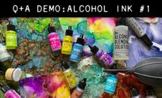 Alcohol Ink Crafts, Simon Says Stamp, Tim Holtz, Scrapbooking, Tutorials, Paint, Diy, Picture Wall, Bricolage