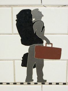 Subway art. Prince Street Station, New York City. May 23, 2013.