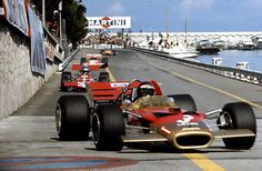 Jochen Rindt for Lotus, Monaco Grand Prix, Monte Carlo, 1970 F1 Racing, Road Racing, Courses F1, F1 Lotus, Jochen Rindt, Gp F1, Classic Race Cars, Gilles Villeneuve, Monaco Grand Prix