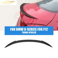 Carbon Fiber Trunk Spoiler Boot Wing Lip Fit For BMW 6-Series F06 F12 Gran 2D Coupe Sportback  2013-2014