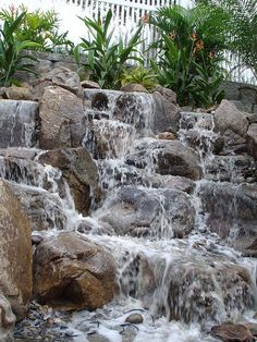 Pinspiration - 90 Stylish Backyard & Garden Waterfalls - Style Estate -
