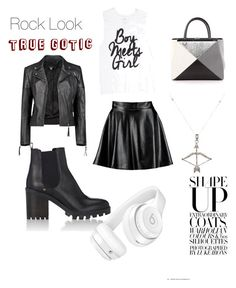 """""""Rock"""" by giiulia-bariison-vechiiatto ❤ liked on Polyvore featuring Boohoo, Barneys New York, Fendi, Beats by Dr. Dre and Feathered Soul"""
