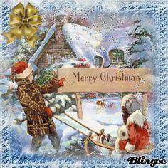 Merry Christmas To All, Christmas Greetings, Winter Christmas, Christmas Time, Vintage Christmas, Christmas Cards, Christmas Ornaments, Xmas Gif, Advent