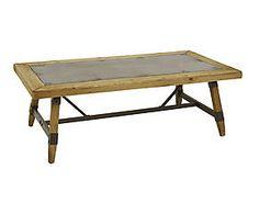 Tavolino in ferro e abete Marie - 138x46x68 cm