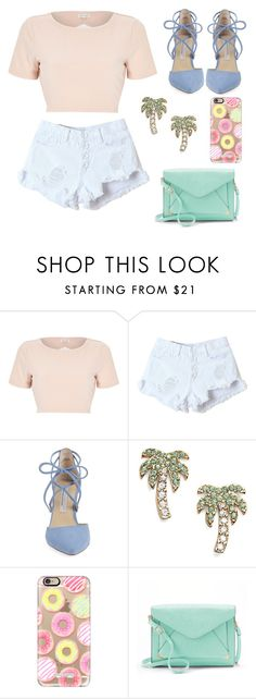 """Sans titre #1"" by gwen-lebrun ❤ liked on Polyvore featuring River Island, WithChic, Kristin Cavallari, Kate Spade, Casetify and Apt. 9"