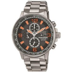 Mens Citizen Nighthawk Titanium Chronograph Eco-Drive Watch CA0500-51H