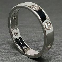 cartier love ring full diamonds 18k white gold wb
