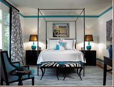 gorgeous, simple, classic...teal, black, white and zebra