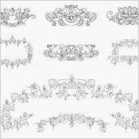 Vintage Floral Design Elements Vector Set