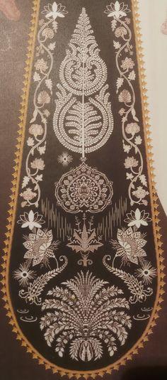 Hand Embroidery Dress, Embroidery Motifs, Indian Embroidery Designs, Indian Flowers, Indian Textiles, Flower Branch, Mural Wall Art, Pattern Art, Textile Design