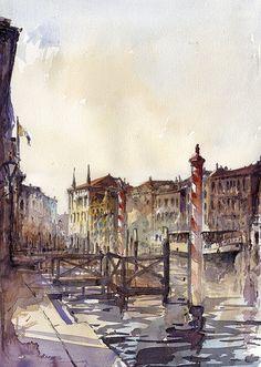 Venice watercolor / Tony Belonrajdic