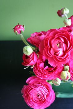 ranunculus - kind of like roses but a looser structure, come in lots of colors