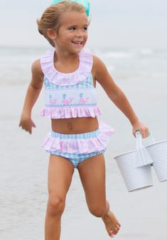 A Whale-y cute smock for your little one this spring and summer! Our Whale Bikini is ideal for Whale watchin' at the beach. Little Girl Bikini, Little Girl Swimsuits, Bikini Girls, Kids Swimwear, Girl Outfits, Sexy, Whale Watching, Twins, Children