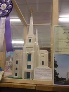 This is awesome! Brigham City Temple in Lego Pieces
