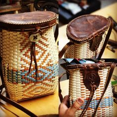 pinner: My donation to the abbe museum's midsummer fundraising event! Happening this evening in Bar Harbor! Willow Weaving, Basket Weaving, Hand Weaving, Traditional Baskets, Old Baskets, Wicker Bedroom, Straw Handbags, Birch Bark, Basket Bag