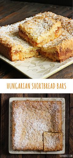 So tender and delicious! Two buttery layers of Hungarian shortbread sandwiching a thin schmear of tart jam or marmalade (orange or apricot is my favorite!) | SoupAddict.com
