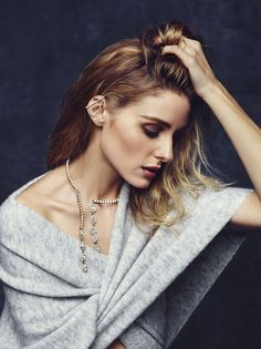 THE RUBY RUSSIAN — Olivia Palermo x BaubleBar Holiday ad campaign via...