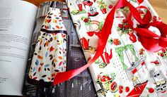 How great would this Cook's Apron look in our Fifties Kitchen Michael Miller fabric? Great British Sewing Bee www.cloth-ears.co.uk  The pattern and instructions are on page 154 of The Great British Sewing Bee Book
