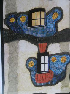 Nog een prachtig fenster van Hundertwasser