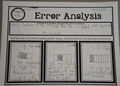 Error Analysis-Have students understand common error patterns!