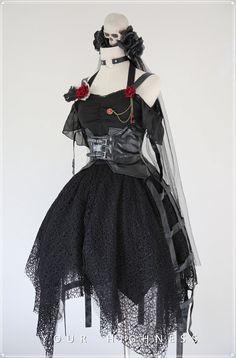 Your Highness -The Dark World- Gothic Lolita Jumper Dress