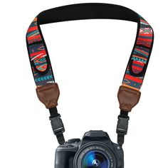 Camera Neck Strap Shoulder Sling with Neoprene Southwest Design , Quick Release Buckles and Accessory Storage Pockets by USA Gear - Works with Pentax , , II and More Cameras - Computers Central Products Directory