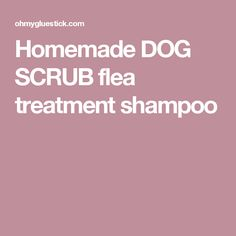 Homemade DOG SCRUB flea treatment shampoo