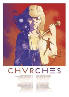 Chvrches Love This Poster- Saturday