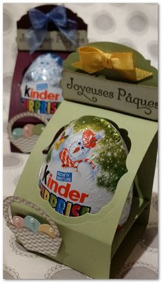 Coul'Heure Papier: Présentoir Oeuf Kinder... [Tutoriel] Envelope Punch Board, Chocolate Gifts, Easter Party, Stamping Up, Easter Baskets, Craft Fairs, Easter Crafts, Cool Gifts, Diy And Crafts