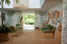 Soane Britain's Rattan Lily Dining Chair and Sofa in the Entrance Hall at Cobblers Cove Hotel, Barbados Furniture Making, Furniture Decor, Chair Parts, Entrance Hall, Valance Curtains, Rattan, Britain, Upholstery, Dining Chairs