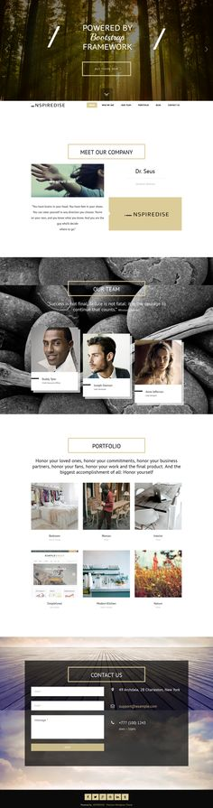_NSPIREDISE - Onepage Parallax WordPress Theme by mona lisa, via Behance