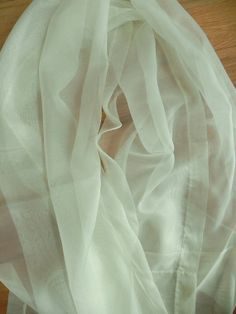 6 Ready To Hang Hand Made Sheer Voile Mint Green by Magpielang, $25.00