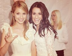 Lea Michelle and Diana Agron