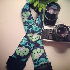 """""""Rhiannon"""" Padded Camera Strap. I LOVE how this turned out!"""