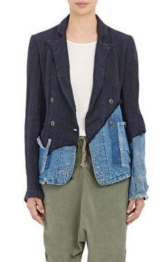 Greg Lauren Double-Breasted Jacket at Barneys New York