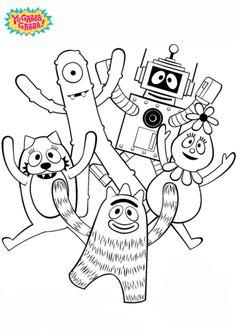 yo gabba gabba coloring pages 3   Yo Gabba Gabba party   Pinterest ...