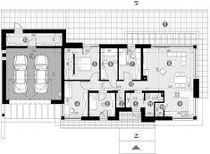 Projekt domu HomeKoncept-45 G2 118,49 m² - koszt budowy - EXTRADOM Gable House, House Plans, Floor Plans, How To Plan, House Styles, Home, Fresh, Fashion, Simple House