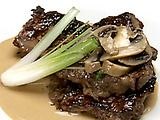 Sirloin Steak with Mushroom Marsala Sauce Recipe - Veganized with TJ's Beefless Tips and Better than Bouillion No-Beef Broth (SO glad there's leftovers!)