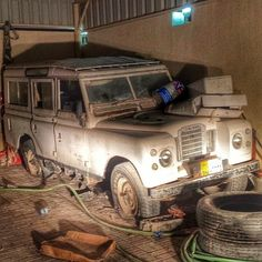 // Land Rover Series Three Station Wagon with Tropical Roof Saudi Arabia Land Rover Series 3, Land Rover Defender 110, Landrover Defender, Adventure Car, Best 4x4, Abandoned Cars, Jeep Truck, Barn Finds, Station Wagon