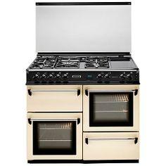 Buy Leisure CMT102FRCP Dual Fuel Range Cooker, Cream Online at johnlewis.com