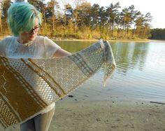 Hotel of bees shawl by aspoonfulofyarn