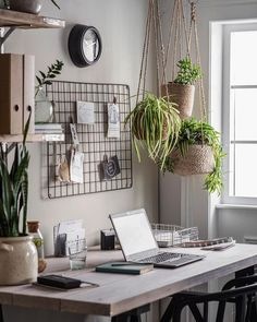 37 Indoor Hanging Plants Ideas To Decorate Your Home hanging plants indoor ideas; The post 37 Indoor Hanging Plants Ideas To Decorate Your Home appeared first on Design Ideas. Home Office Space, Home Office Design, Home Office Decor, Apartment Office, Office Ideas, Small Office Decor, Modern Office Decor, Office Inspo, Spare Bedroom Office