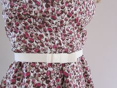 How to make a Flat Bow Belt from Lauren at Guthrie & Ghani. Also on The Great British Sewing Bee #GBSB