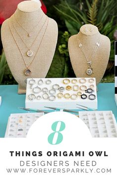 A great list of things every Origami Owl Designer needs to run a successful direct sales business from home and with style.