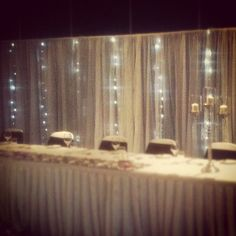 Our Bridal Table Backdrop