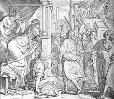 Bilder der Bibel - David von Michal verachtet - Julius Schnorr von Carolsfeld
